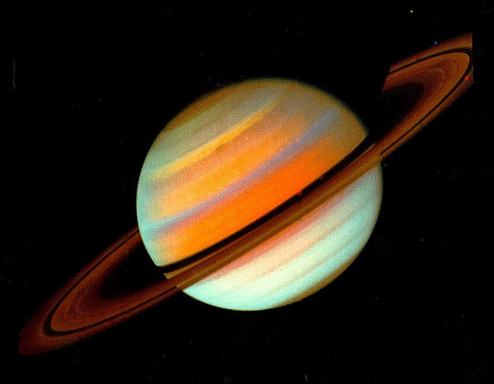Saturn false color Voyager-1