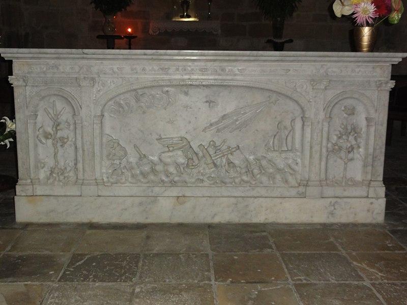 Saubion (Landes) église, autel sculpté