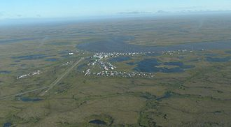 Chefornak, Alaska - Aerial view of Chefornak