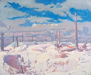 J. R. R. Tolkien - The Schwaben Redoubt, painting by William Orpen. Imperial War Museum, London.