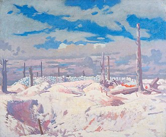 Capture of Schwaben Redoubt - Image: Schwaben Redoubt by William Orpen IWM Art.IWM ART 3000