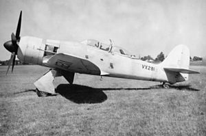 Sea Fury T20 at Hawker Langley in 1949.jpg
