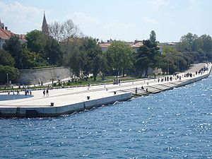 Sea organ - Sea organ in scaled form - the sound emerges from the holes along the top step