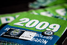 Match ticket for the Sounders' first game in Major League Soccer