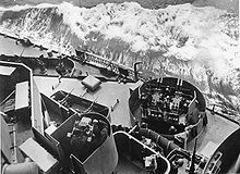 Secondary Battery Control and light AA guns aboard the South Dakota (BB-57) in the Atlantic, 1943.jpg