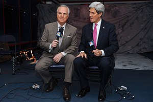NBC Sports Washington - Secretary of State John Kerry being interviewed by the network before a Capitals game at the Verizon Center February 6, 2014.