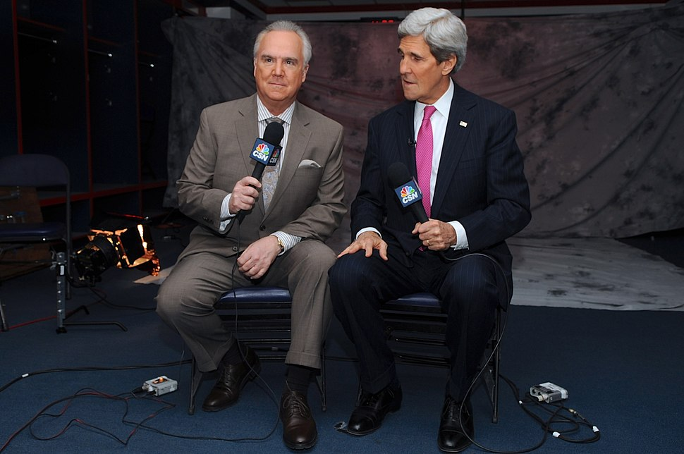 Secretary Kerry is Interviewed by Comcast Sports Network Reporter Koken Before Capitals Game (12354551234)