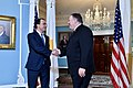 Secretary Pompeo Greets Cypriot Foreign Minister Christodoulides (45757277611).jpg