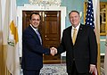 Secretary Pompeo Meets with Cypriot Foreign Minister Christodoulides (49086036406).jpg