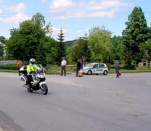 Crime in Slovakia - Slovak police in Sedlice.