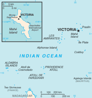 Outline of Seychelles - An enlargeable basic map of Seychelles