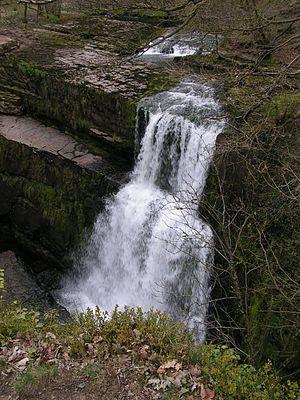 Ystradfellte - Image: Sgwd Clun gwyn, Afon Mellte