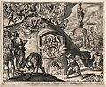 Shadrach, Meshach and Abednego. Engraving by P. Galle after Wellcome V0033269.jpg