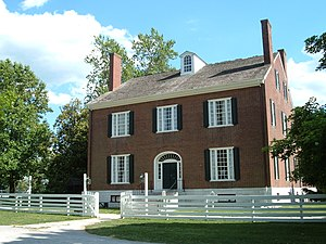 Pleasant Hill, Kentucky - The Trustees' Office served both as administrative headquarters for the community and as a guest house.