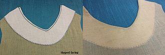 Facing (sewing) - Shaped facing