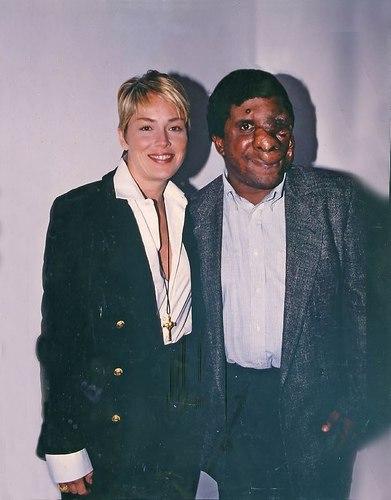 Sharon Stone and Reggie Bibbs