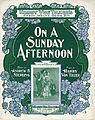 Sheet music cover - ON A SUNDAY AFTERNOON (1902).jpg