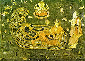 Markandeya - Markandeya prays to Vishnu