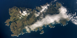 Shikotan island in South Kuril Islands