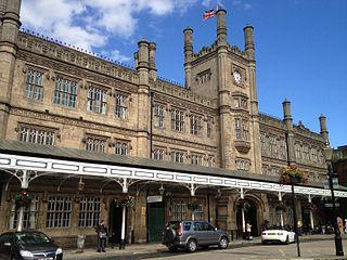Shrewsbury railway station Grade II listed railway station in Shropshire, England