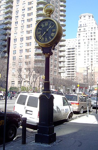 Yorkville, Manhattan - A sidewalk clock on 1501 Third Avenue