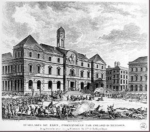 Hôtel de Ville, Lyon - Image: Siege and Taking of the City of Lyon