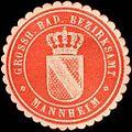 Siegelmarke Grossherzoglich Badisches Bezirksamt - Mannheim W0226558.jpg