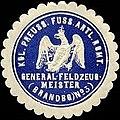 Siegelmarke Königlich Preussisches Fuss Artillerie Regiment - General - Feldzeugmeister (Brandenburgisches) No. 3 W0238032.jpg
