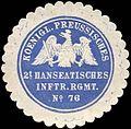 Siegelmarke K. Pr. 2t Hanseatisches Infanterie Regiment No. 76 W0285590.jpg