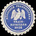 Siegelmarke K. Pr. Trainbataillon No. 16 W0285589.jpg