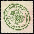 Siegelmarke XII. Königlich Sächsische Armee - Corps - General - Commando W0228105.jpg