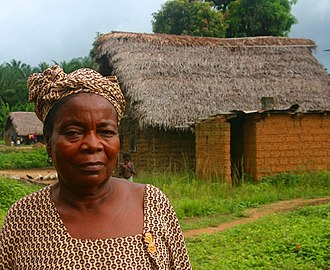 Mende people - A Mende woman in the village of Njama in Kailahun District.