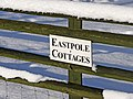 Sign for Eastpole Cottages, Bramley Road, London N14 - geograph.org.uk - 1148504.jpg