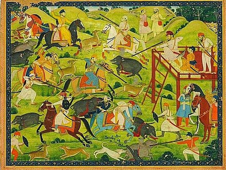 A group of Sikhs hunting (Unknown Pahari artist, 18th century) Sikh Hunting.jpg