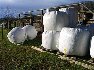 Schönenbuch - Hay bales from a farm outside Schönenbuch