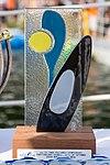 Silver medal trophy, senior women, 2014 ICF canoe polo world championships.jpg