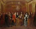 Silvestre - Der Empfang des sächsischen Kurprinzen Friedrich August, bei König Ludwig XIV. in Fontainebleau - Gemäldegalerie Alte Meister.png