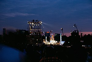 The Concert in Central Park - View of the stage from deep in the audience