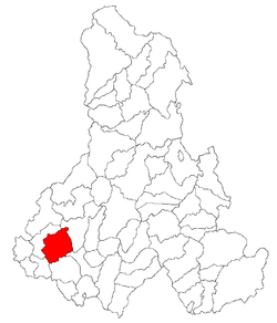 Location of Şimoneşti