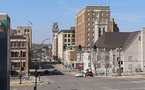 Sioux Şehri'nin merkezinde