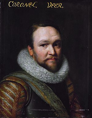 Myles Standish - Sir Horatio Vere was the commander of English troops in Holland during the siege of Sluis in 1604, under whom Standish likely served.