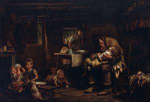 Luke Fildes - The Widower, 1875-6