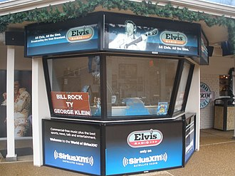 Elvis Radio - Elvis Radio studio booth at Graceland.