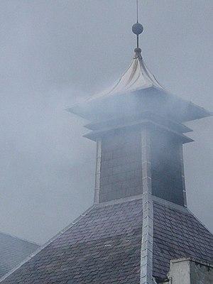 "Laphroaig distillery - A distinctive ""pagoda"" style kiln chimney at Laphroaig"