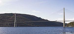 Skarnsund Bridge - View of the bridge