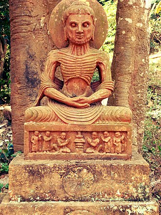 Lalitgiri - Sculpture of the Buddha fasting.