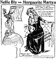 Sketch of Nelly Bly by Marguerite Martyn, 1911.jpg