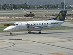 Skippers Aviation (VH-XUF) EMB-120 Brasilia at Perth Airport.jpg