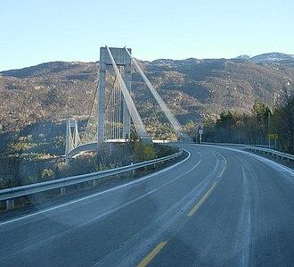 Skjomen Bridge - The Skjomen bridge from the south side of the Skjomen fjord
