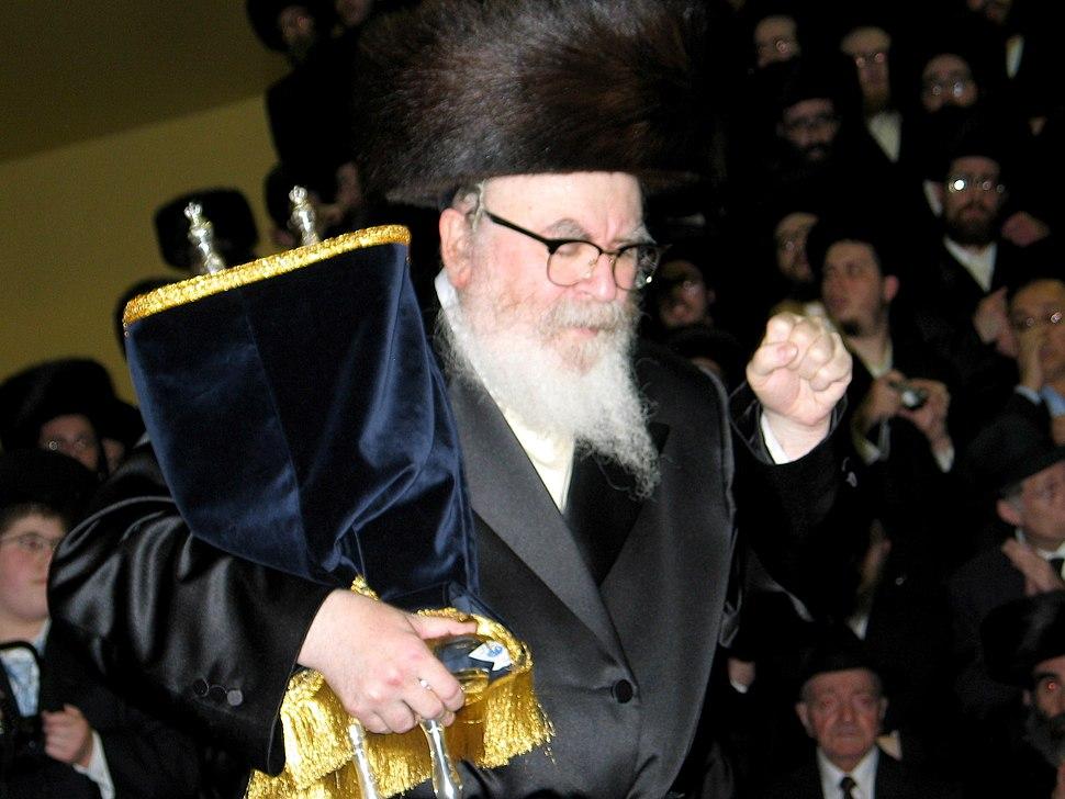 Skverer Rebbe With Torah